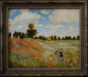 The field of poppies at Argenteuil (copy of Monet)