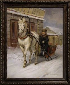 The cabman of Moscow (in the collection «The museum of ORLOV TROTTER and RUSSIAN TROIKA»)